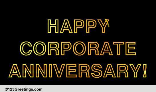 Happy corporate anniversary free at work etc ecards