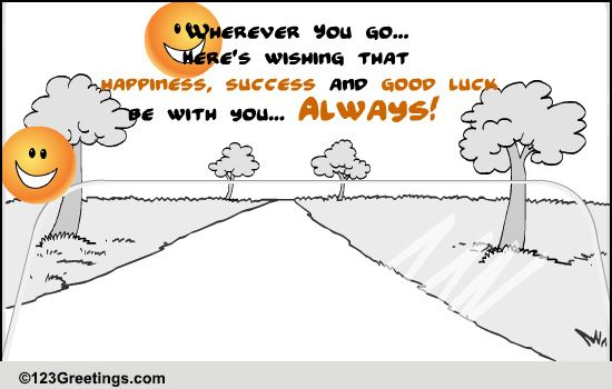 may success follow you    free farewell ecards  greeting