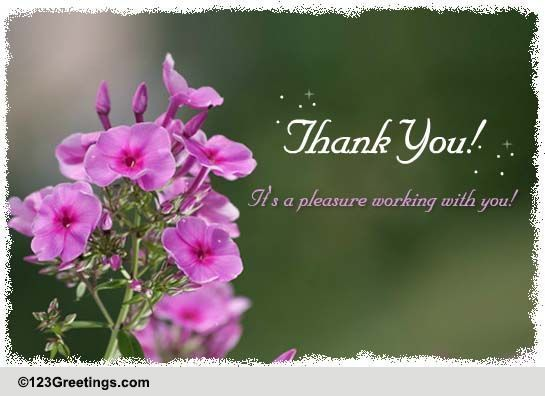 Thank You! Free Colleagues & Co-workers eCards, Greeting Cards   123 ...