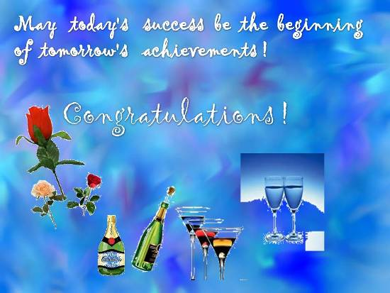 congratulation on dear ones success