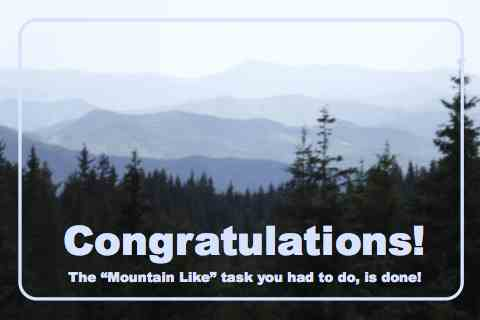 Congratulations You Climbed...