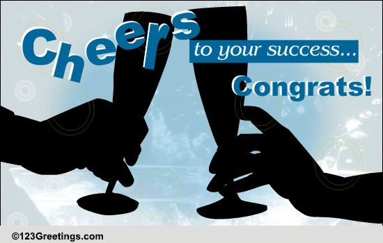 cheers to your success  free business  u0026 workplace ecards