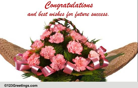 congratulations and best wishes  free business  u0026 workplace