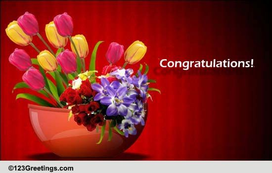 congratulate with flowers  free business  u0026 workplace