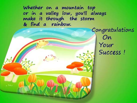 Greetings On A Loved One's Success.