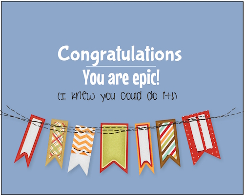 congrats on your epic achievement  free for everyone