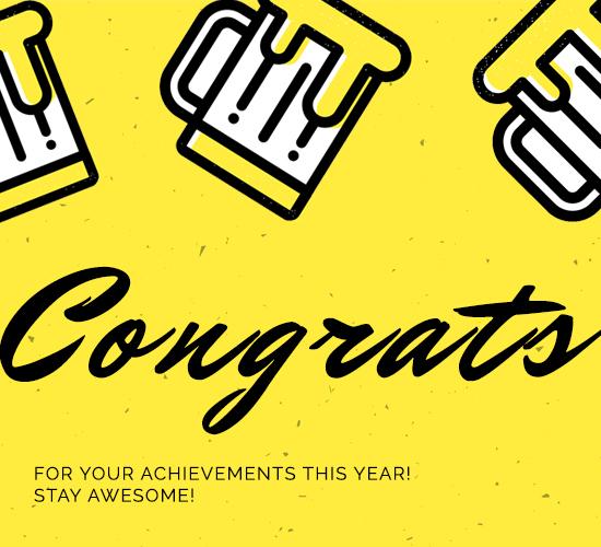 Congratulations For Achievements.