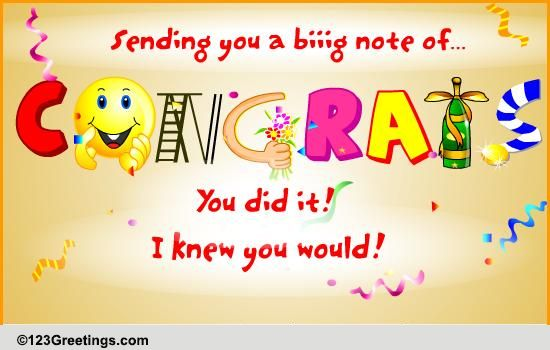 you did it free for everyone ecards greeting cards 123 greetings