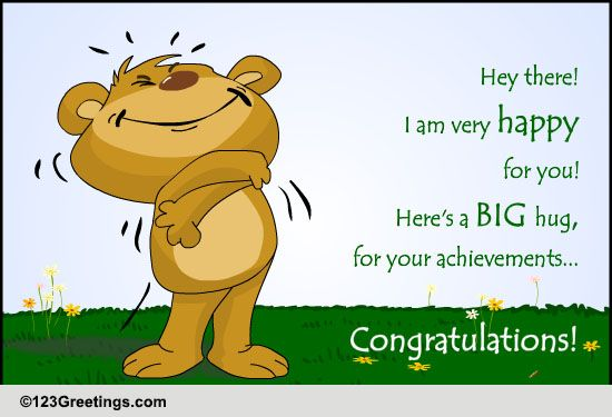 big hugs for the achievements free for everyone ecards, greeting, Greeting card