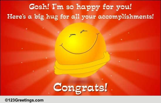 happy hugs to say congrats  free for everyone ecards  greeting cards