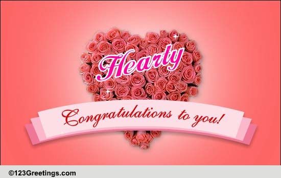 hearty congratulations  free for everyone ecards  greeting