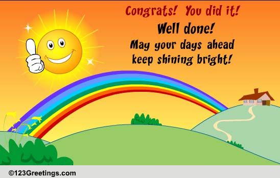 congrats  you did it  free for everyone ecards  greeting