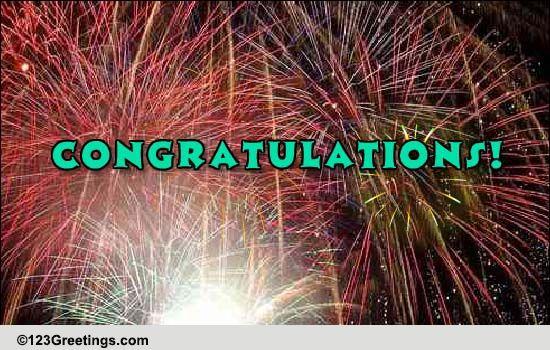 sparkling congratulations  free for everyone ecards