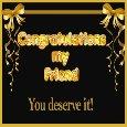 Congratulations You Deserve It!