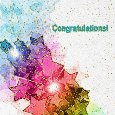 Congratulations With Colorful Stars.