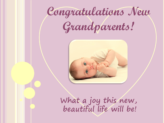 Congratulations to new free new baby ecards greeting cards 123 wish the grandparents joy on the arrival of a new baby in the family m4hsunfo