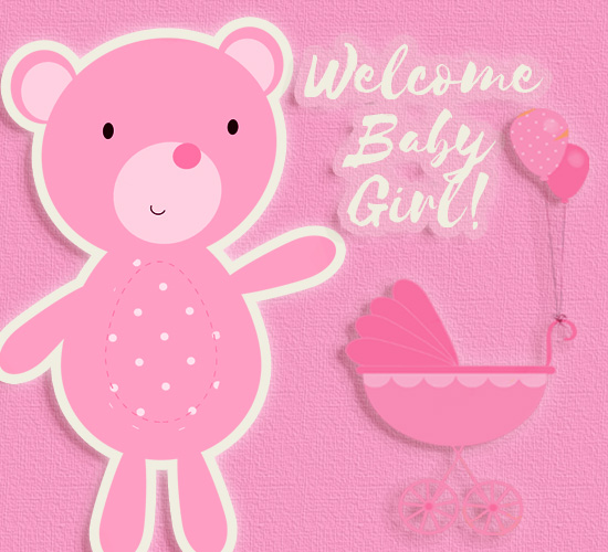 welcome baby girl    free new baby ecards  greeting cards