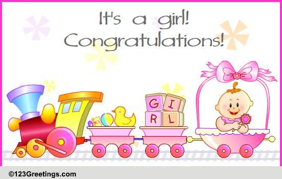 It Is A Baby Girl Free New Baby ECards Greeting Cards 123 Greetings