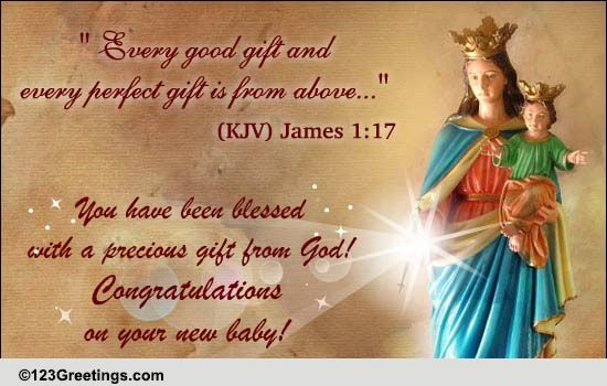 bible quote to congratulate    free new baby ecards