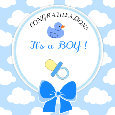 Congratulations It's A Boy! Blue Ecard.