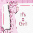 Welcome New Baby Girl Cute Giraffe.