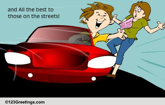 congrats on your driving license    free new car  u0026 license ecards