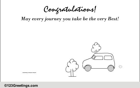 may every journey    free new car  u0026 license ecards