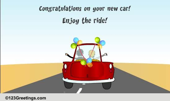 enjoy the ride  free new car  u0026 license ecards  greeting