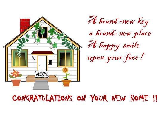 Warm Greetings On  Getting A New Home.