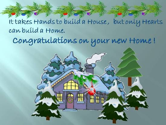 Congratulations On Getting A New Home.