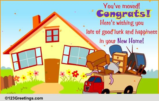 Your new home free new home ecards greeting cards 123 for New home images free