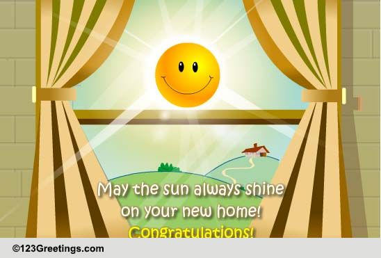 Congratulations New Home Cards Free ECards 123 Greetings