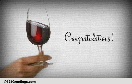 congratulations  cheers  free new home ecards  greeting