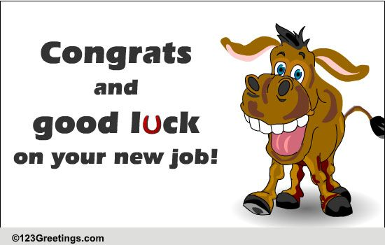 Congrats and good luck to u free new job ecards greeting cards congrats and good luck to u free new job ecards greeting cards 123 greetings m4hsunfo