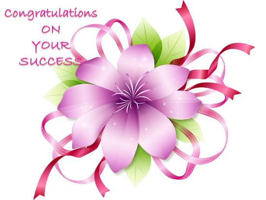 Congratulaions On Your Success.