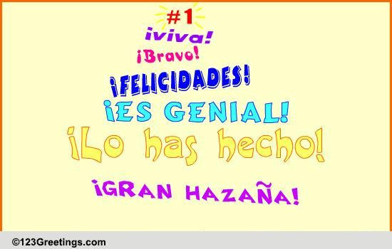 felicidades    bravo    free on other occasions ecards