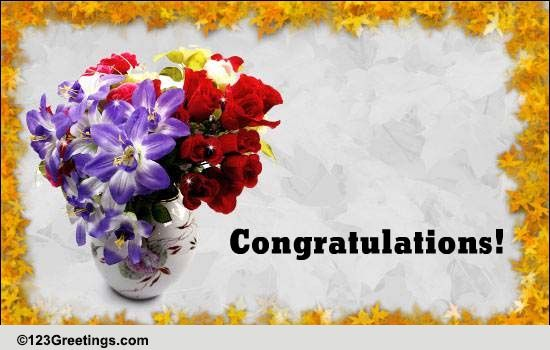 congratulations with flowers  free on other occasions