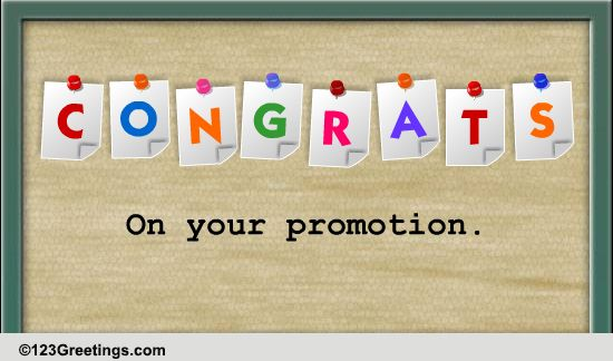 Congratulations for promotion in job - photo#15