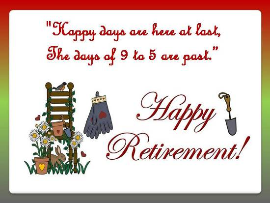 Warm Greetings On Retirement.