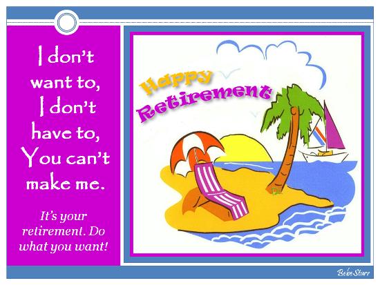 It's Your Retirement.