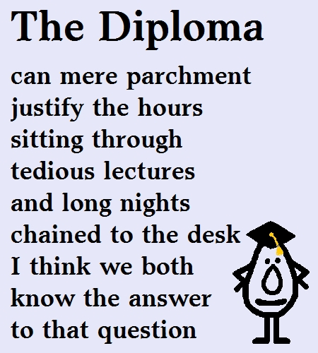 The Diploma - Funny Poem For A Grad.