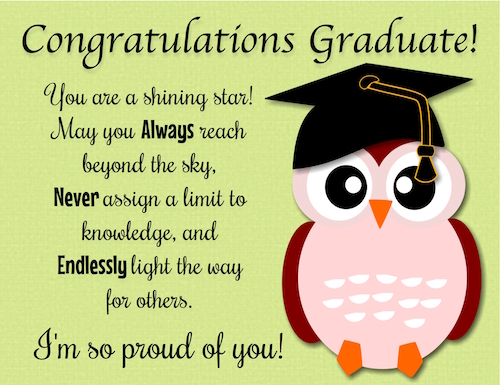 Congrats Grad, You're A Bright Star.