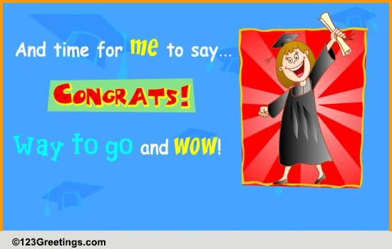 wow  congrats  free graduation party ecards  greeting cards