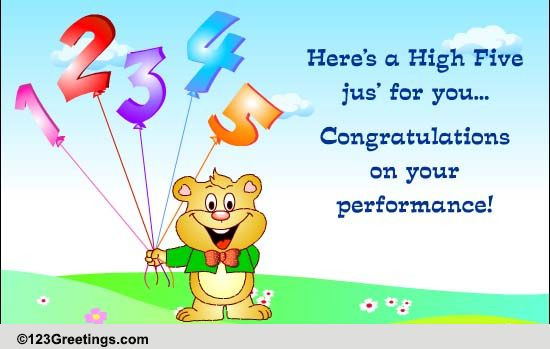 high five  free graduation party ecards  greeting cards