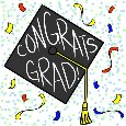 Home : Congratulations : Graduation Party - Confetti Grad Cap.