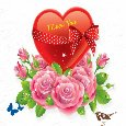 Home : Cute Cards : Heart to Heart - Your Love Makes Me Shine!