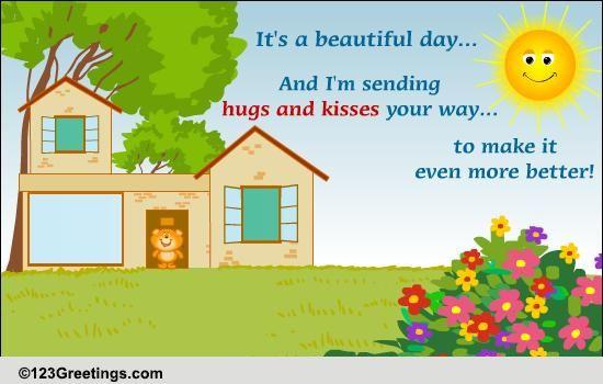 Send Warm Hugs And Kisses