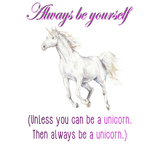 Be A Unicorn Free Smile ECards Greeting Cards