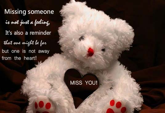 missing someone    free teddy bears ecards  greeting cards