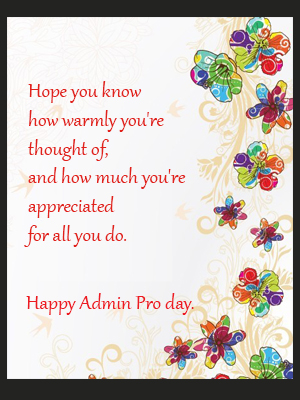 Happy Admin  Day.
